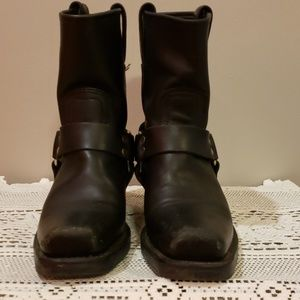 Frye Ankle Harness Boots
